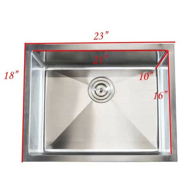 Emodern decor ariel 23 x 18 single bowl undermount for Emodern decor