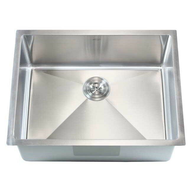 "eModern Decor Ariel 26"" x 20"" Single Bowl Undermount"