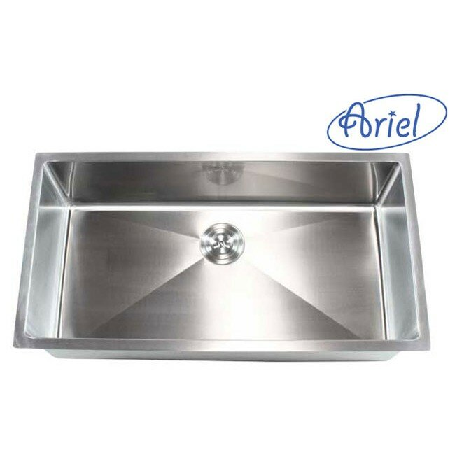 Emodern decor ariel 36 x 19 single bowl undermount for Emodern decor