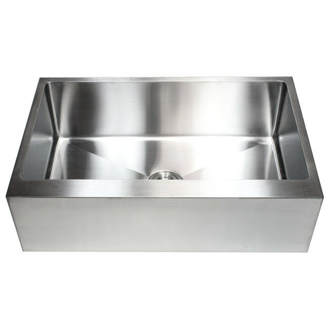 Emodern decor ariel 33 x 21 stainless steel single bowl for Emodern decor