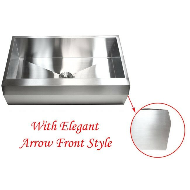 Emodern decor ariel 36 x 22 stainless steel 16 gauge for Emodern decor