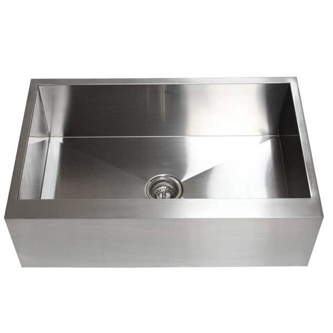Https Www Wayfair Com Emodern Decor Ariel 33 X 21 Stainless Steel Single Bowl Farmhouse Kitchen Sink Hfs 3321 1 Emde1075 Html