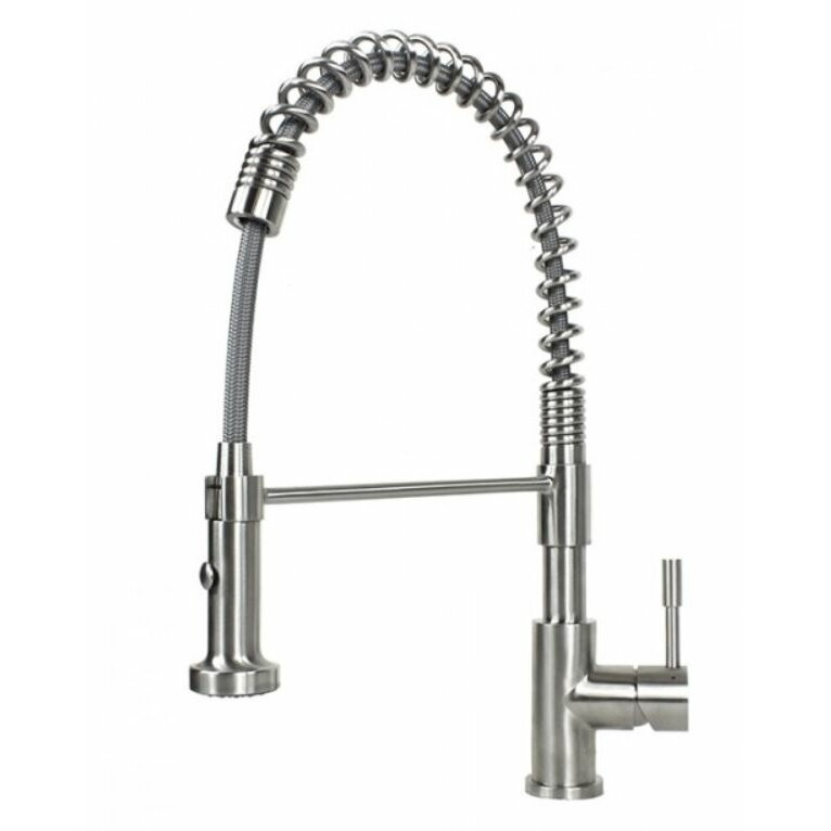 Emodern decor ariel single handle kitchen faucet with pull for Emodern decor