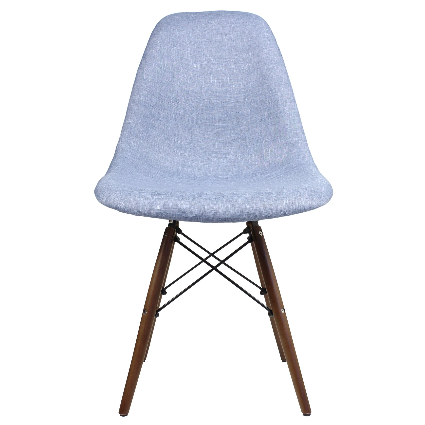 Modern Coffe Side Stool Designs : eModern Decor Mid Century Modern Woven Fabric Upholstered Side Chair ...