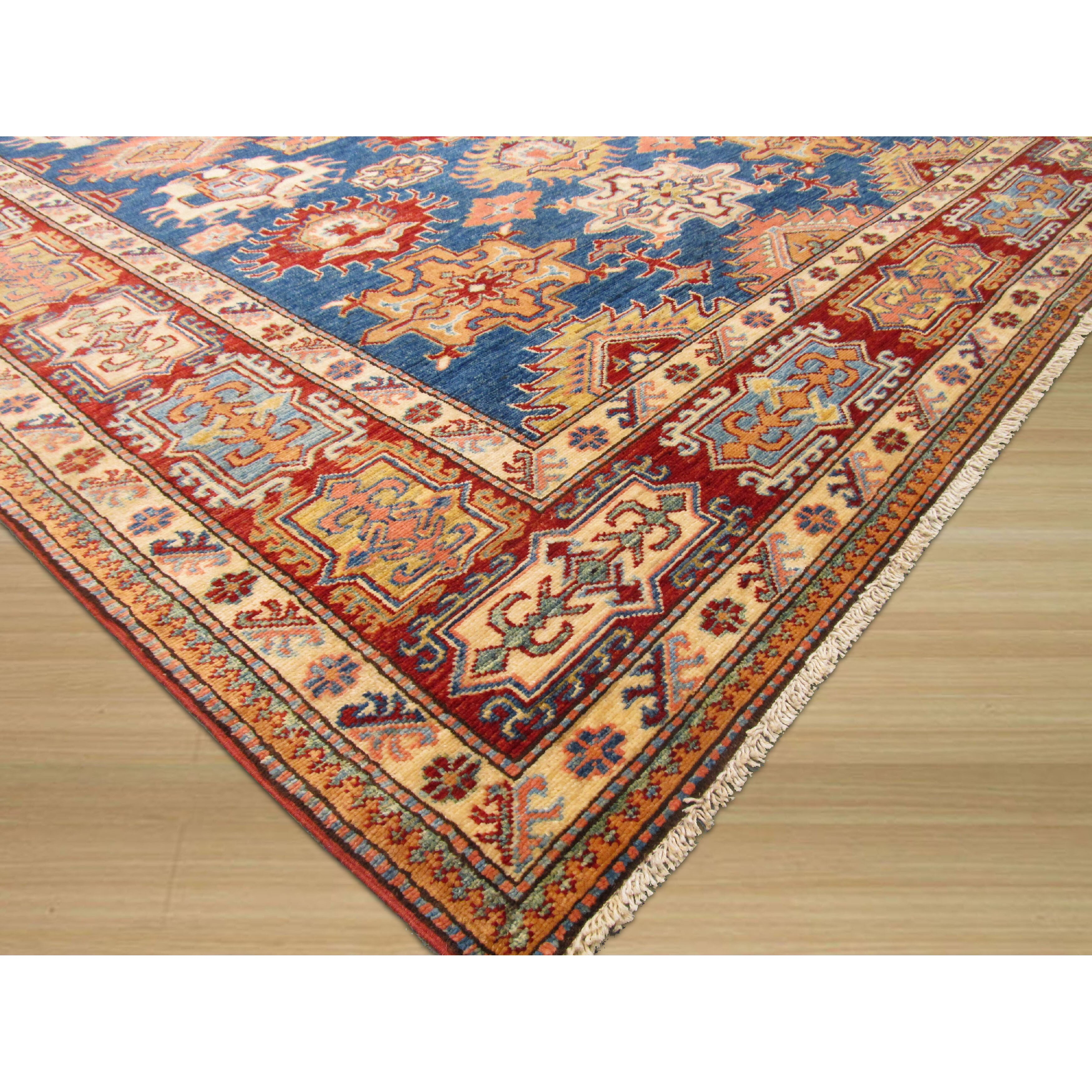 Eastern Rugs Hand-Knotted Blue Area Rug
