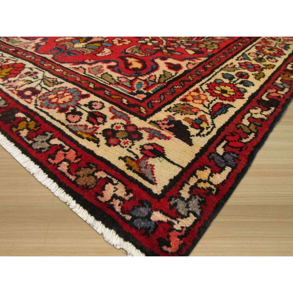 red area rug eastern rugs knotted area rug wayfair 13188