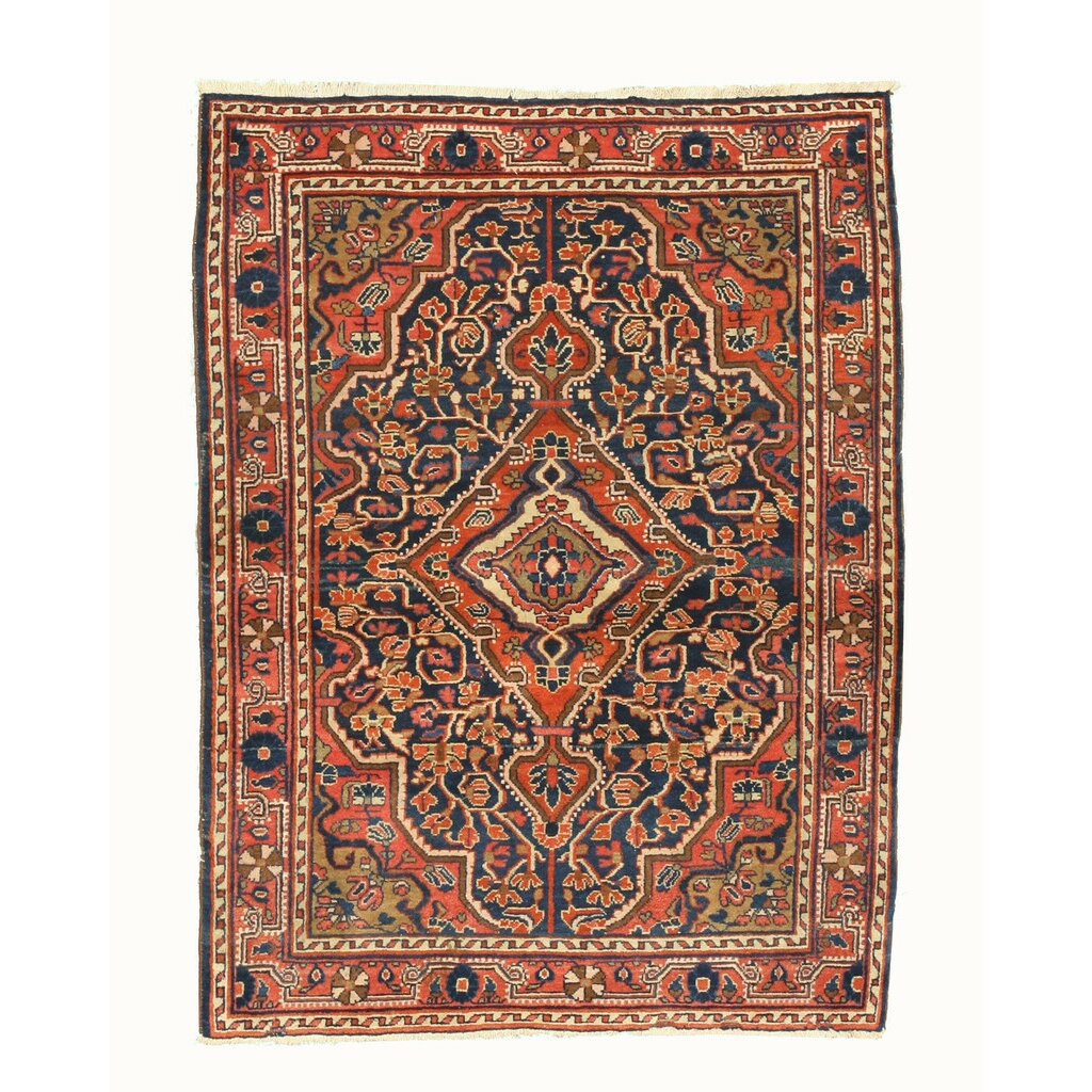 Eastern rugs bidjar hand knotted navy area rug for Where can i buy area rugs