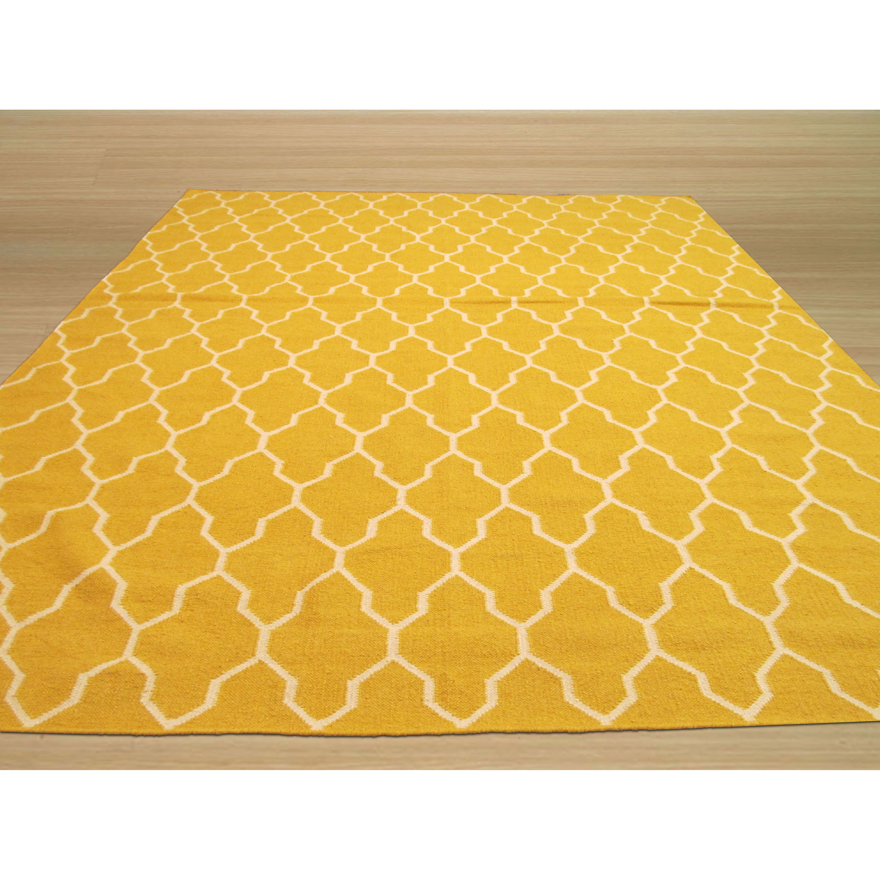 Eastern Rugs Hand Knotted Yellow Ivory Area Rug Wayfair