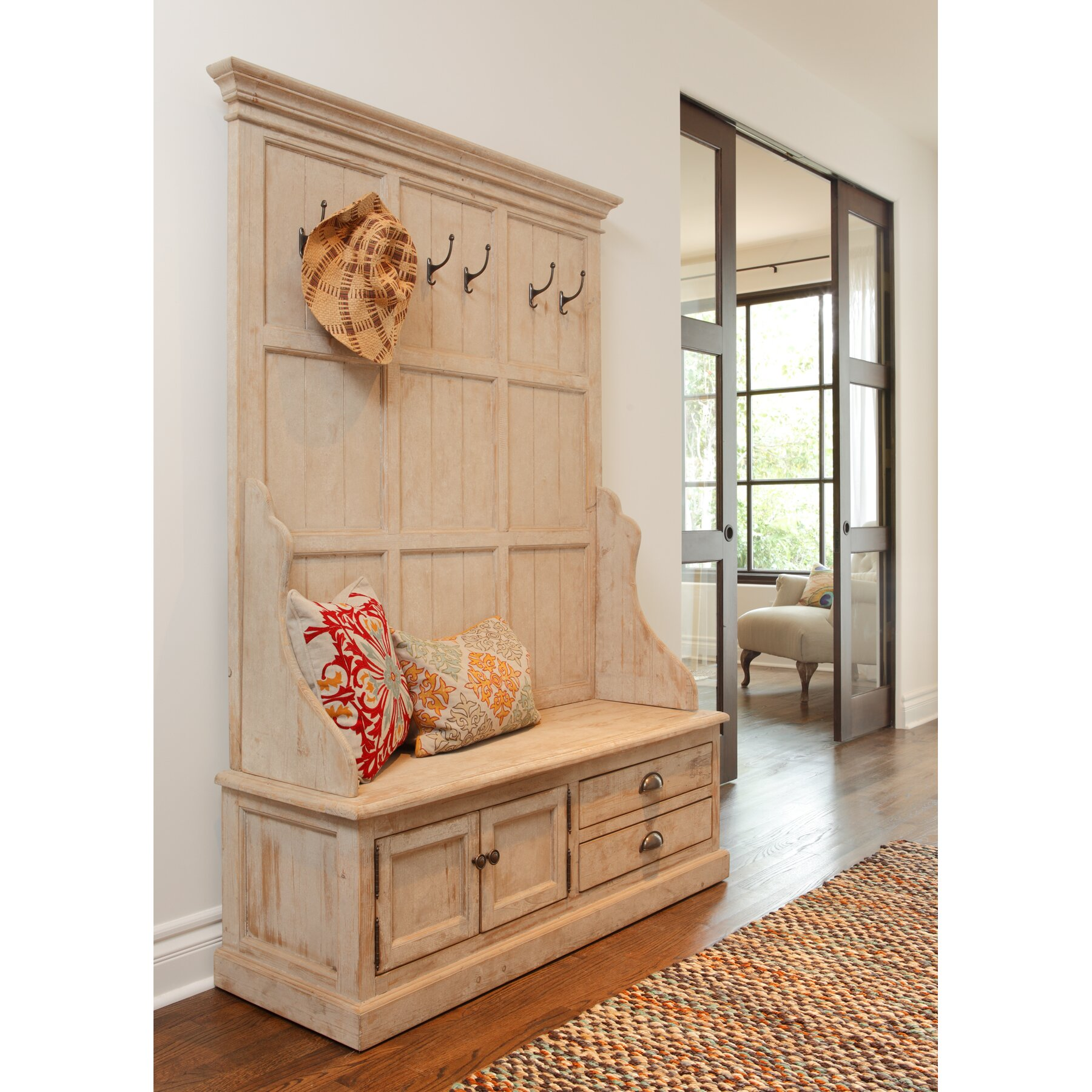 Kosas Home Elodie Pine Storage Entryway Bench & Reviews