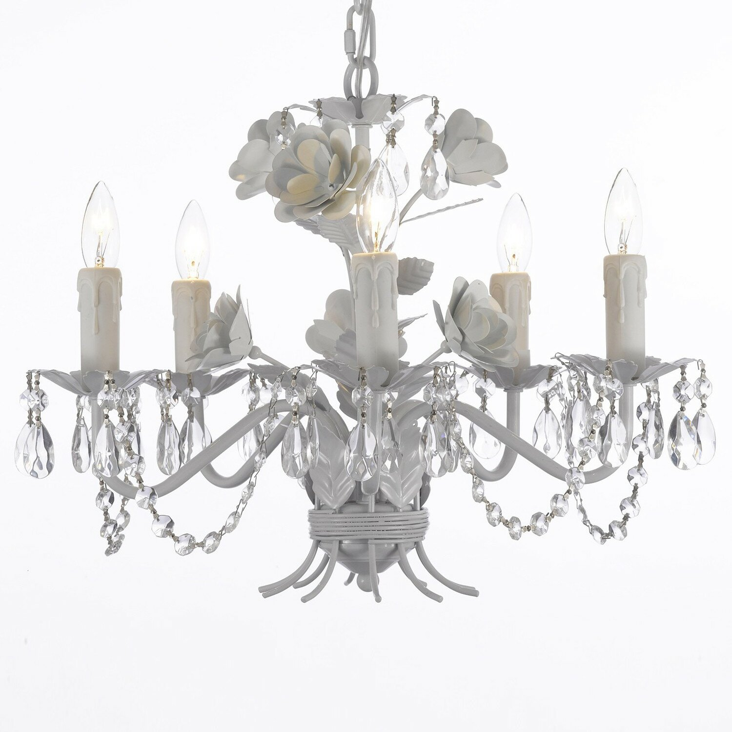 Harrison Lane Garden 5 Light Crystal Chandelier Reviews Wayfair
