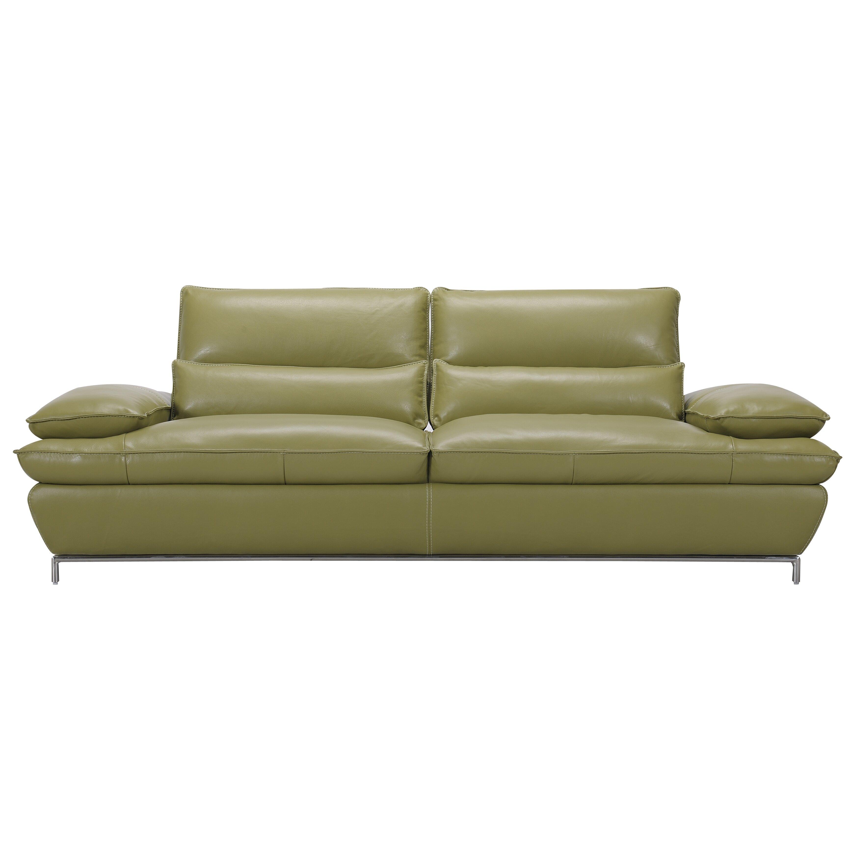 Creative Furniture Naomi Leather Sofa Reviews Wayfair