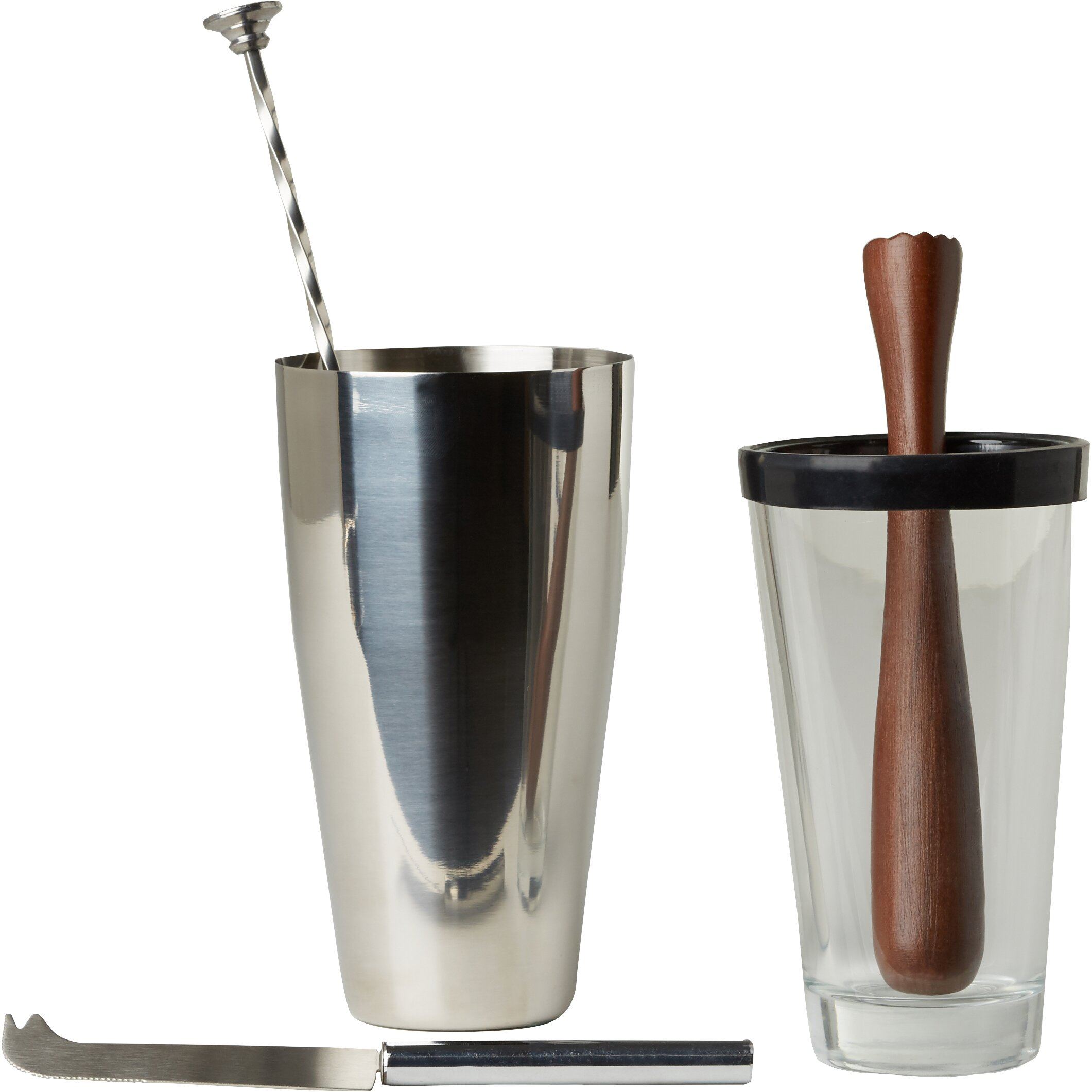 Kitchen craft bar craft luxe lounge 4 piece mojito for Craft cocktail gift set