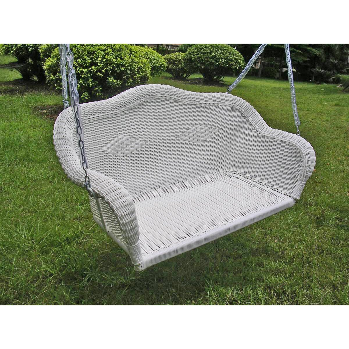 International Caravan Chelsea Wicker Porch Swing Reviews