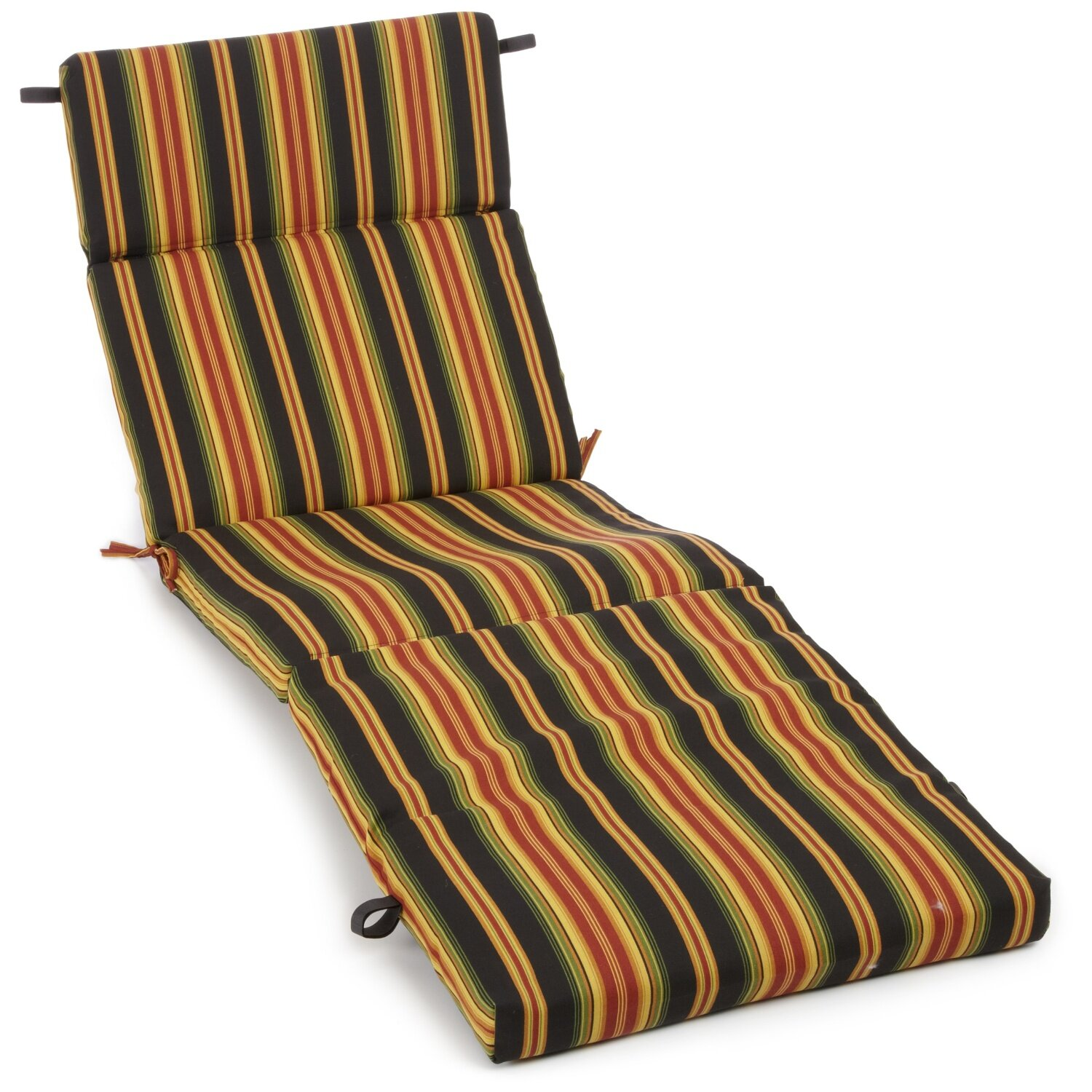 Blazing needles lyndhurst outdoor chaise lounge cushion for Blazing needles chaise cushion