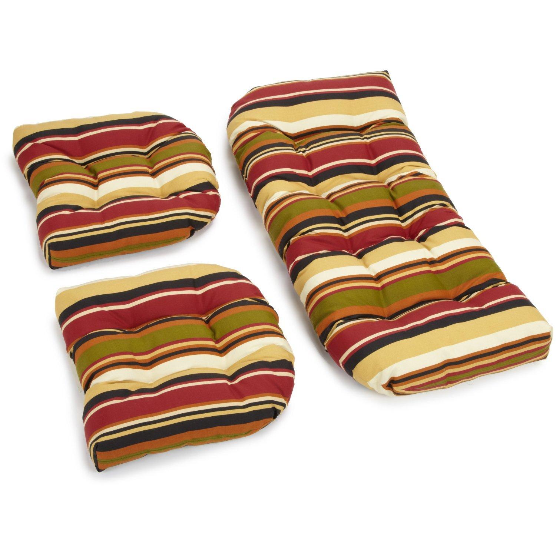 Blazing needles mccoury outdoor loveseat cushion amp reviews wayfair