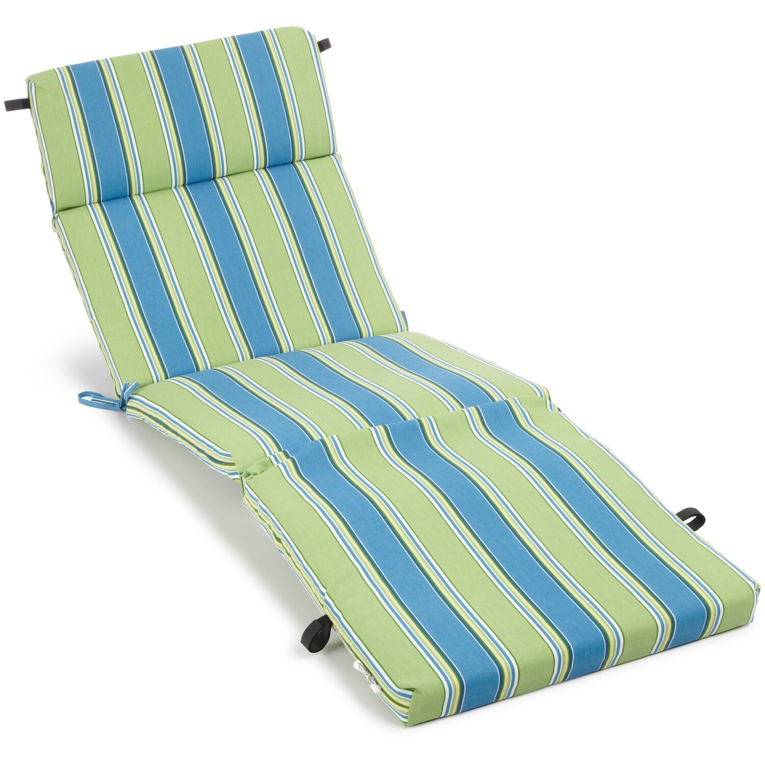 Blazing needles haliwall outdoor chaise lounge cushion for Chaise cushions on sale