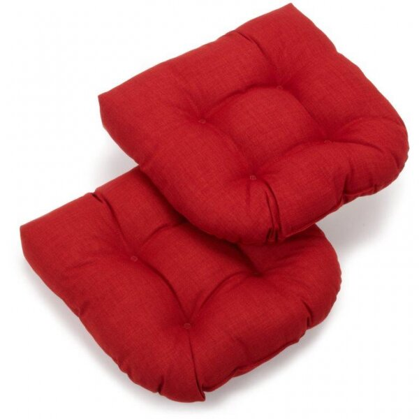 Blazing Needles Patio Outdoor Rocking Chair Cushion & Reviews ...