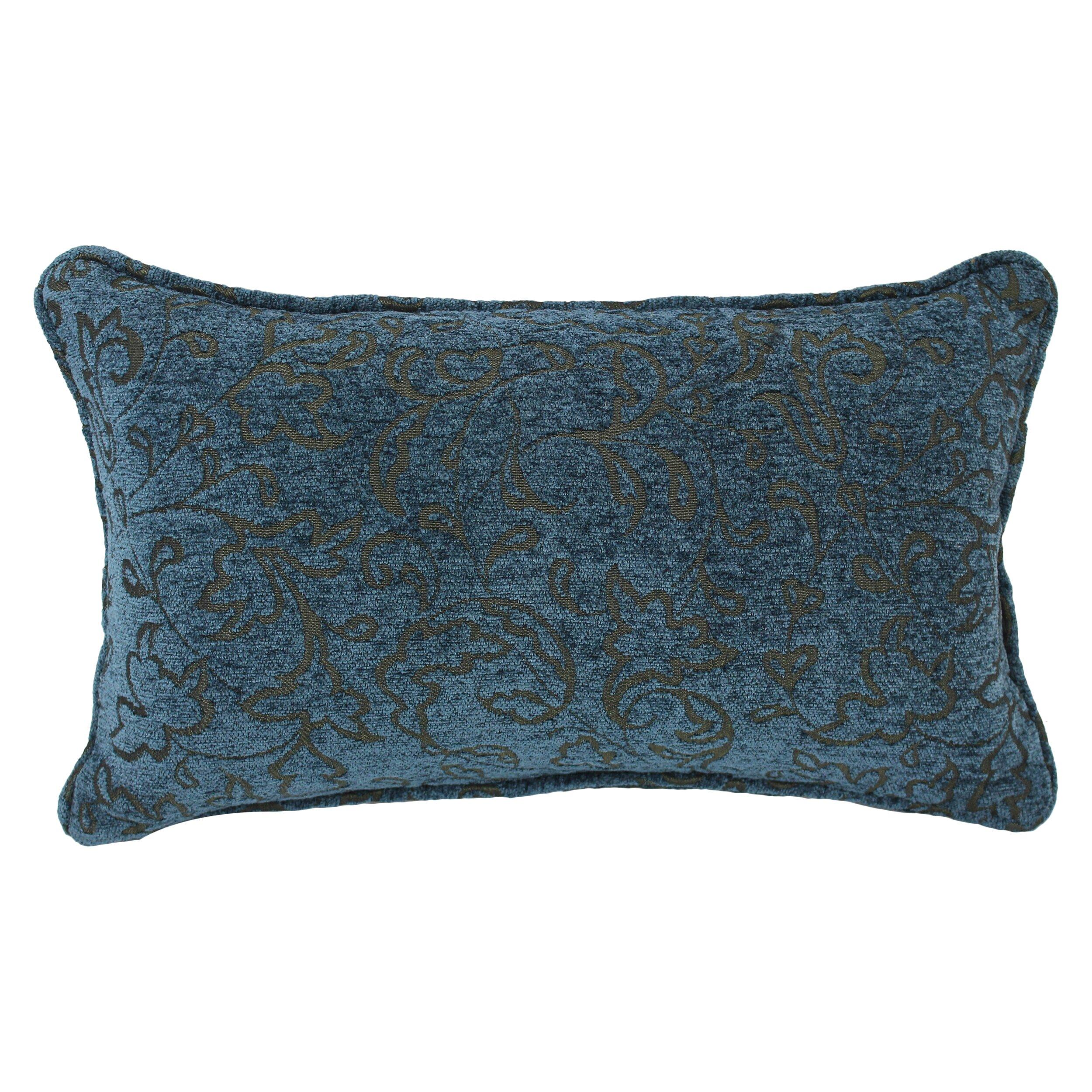 Blazing Needles Floral Jacquard Chenille Lumbar Pillow Wayfair