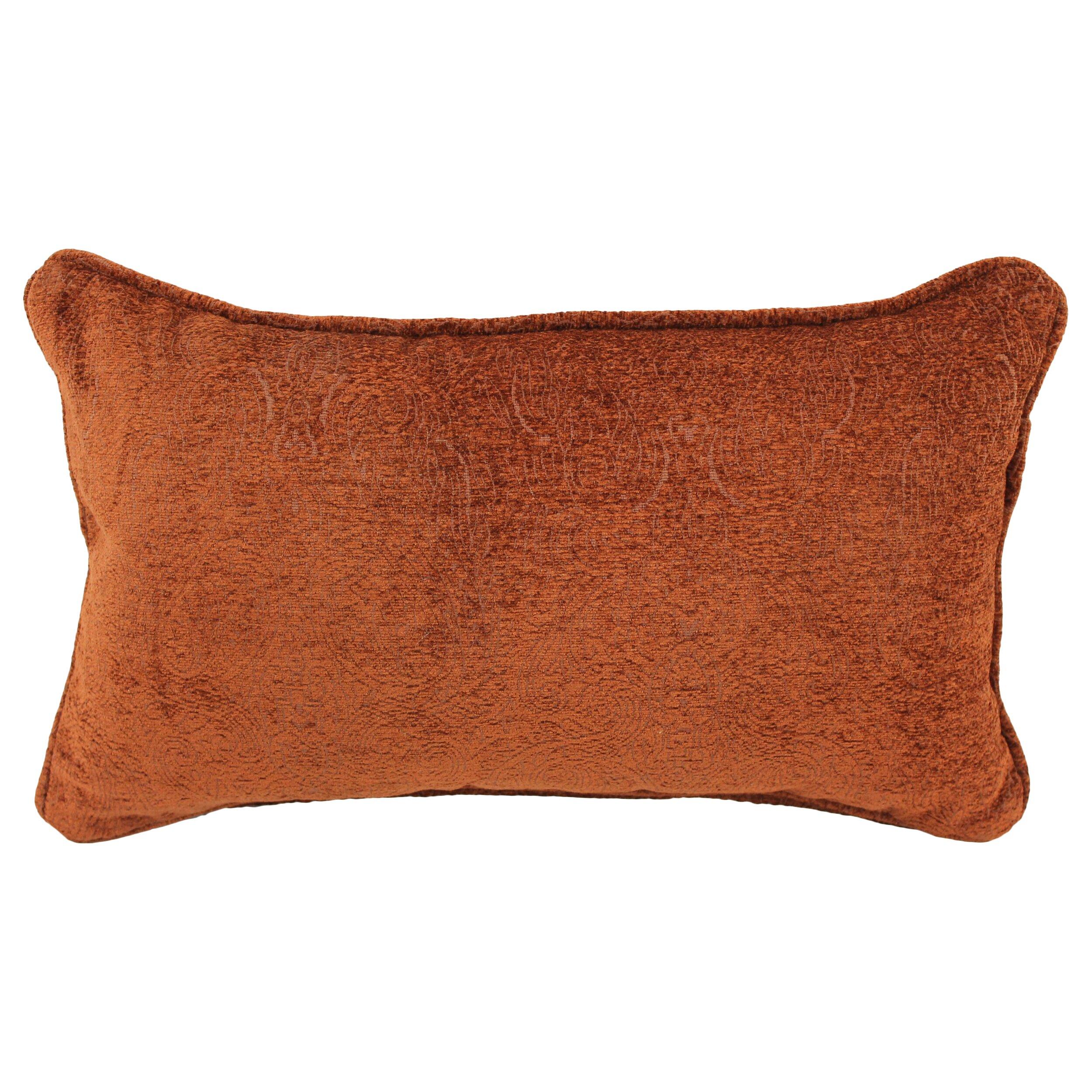 Rectangular Throw Pillow Dimensions : Blazing Needles Macaroon Jacquard Chenille Lumbar Pillow Wayfair