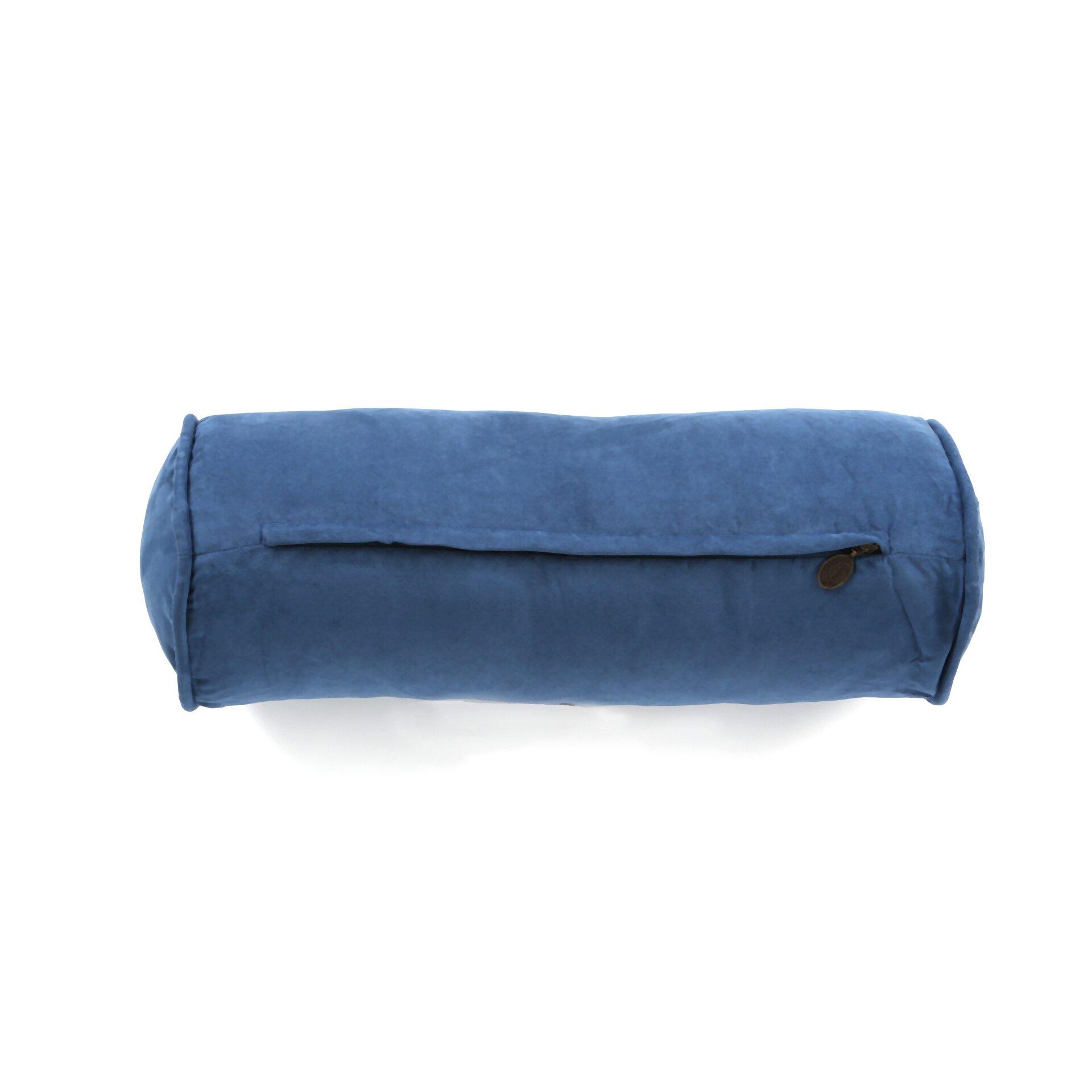 Blazing Needles Microsuede Bolster Pillow Amp Reviews Wayfair
