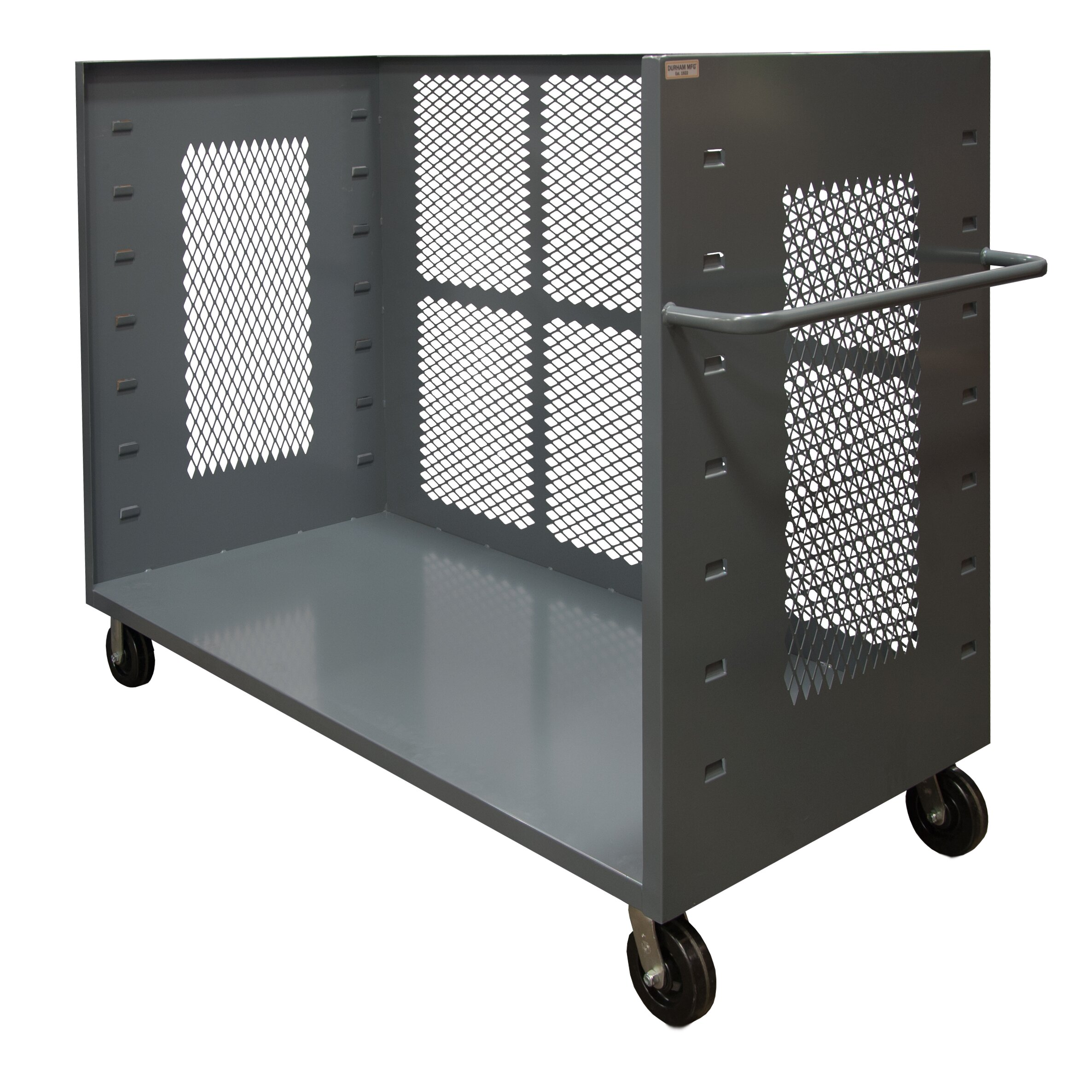 Factory Utility Cart: Durham Manufacturing 3-Sided Mesh Utility Cart & Reviews