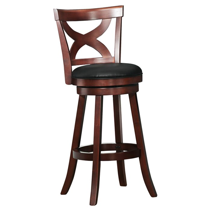 kingstown home wade 29 swivel bar stool reviews wayfair. Black Bedroom Furniture Sets. Home Design Ideas