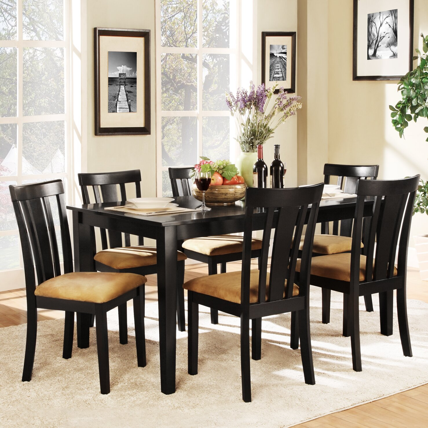 Kingstown home jeannette 7 piece dining set reviews for Home piece