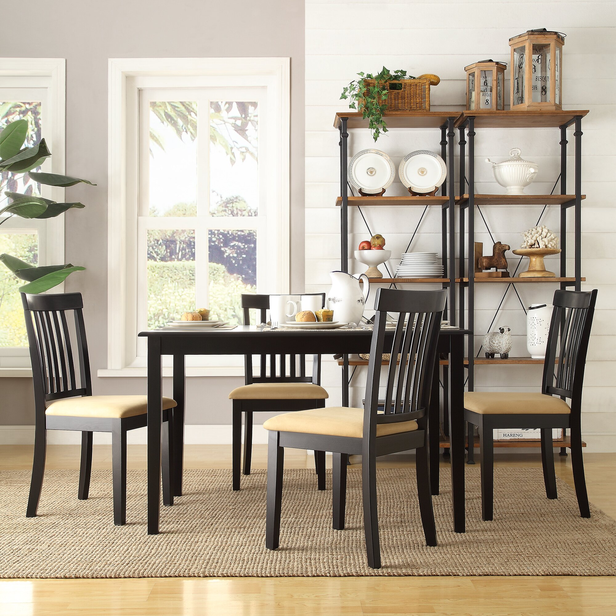 Kingstown home jessica 5 piece dining set reviews wayfair for 5 piece dining room sets