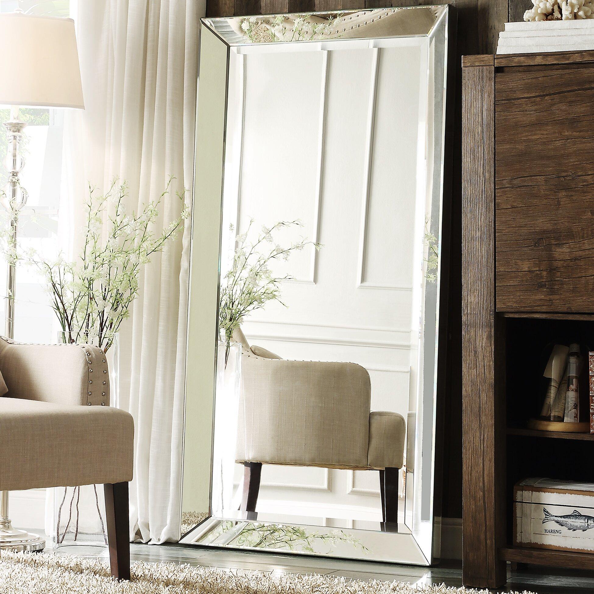Three posts madelina floor mirror reviews wayfair for Mirror on the floor