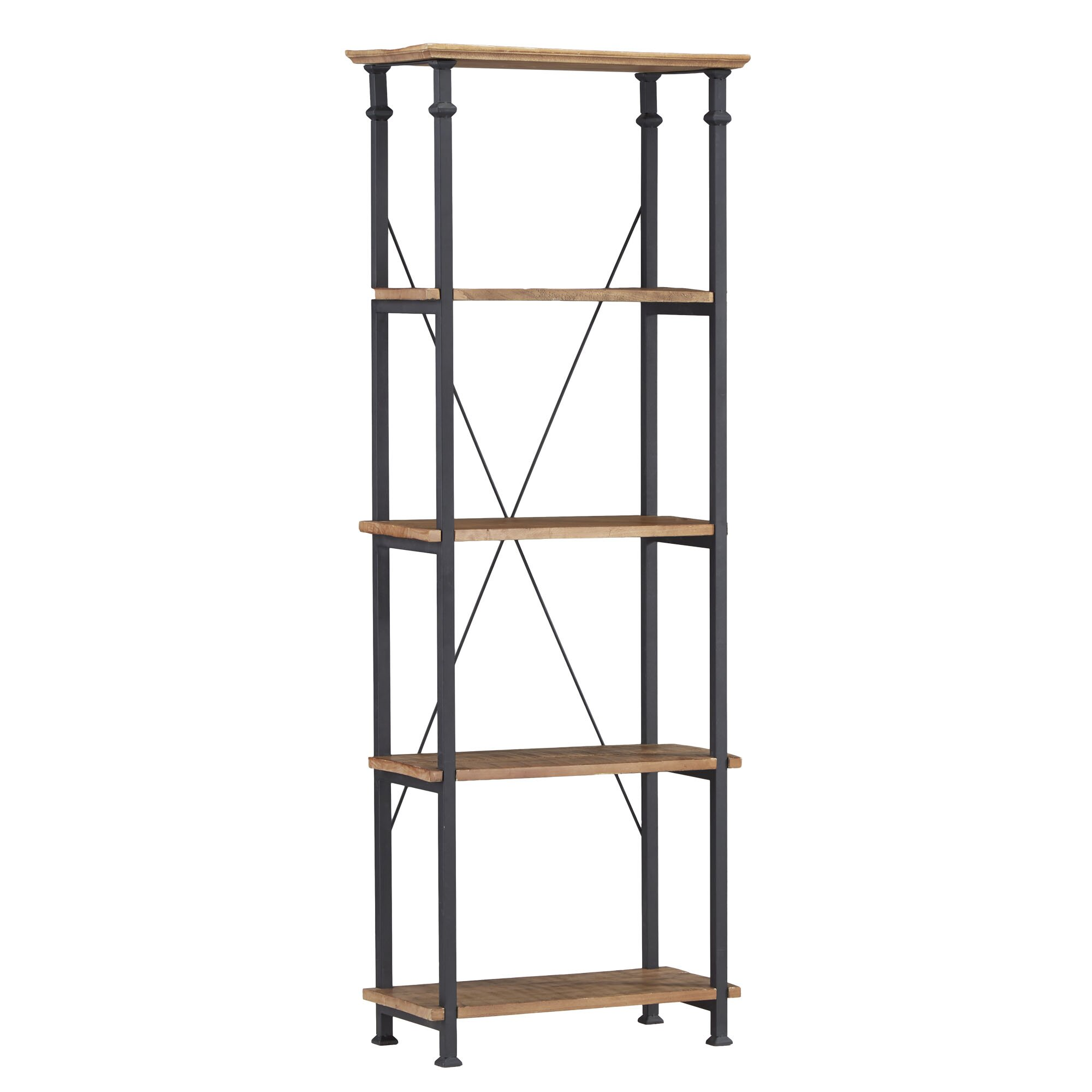 kingstown home eastfield 75 etagere bookcase reviews. Black Bedroom Furniture Sets. Home Design Ideas