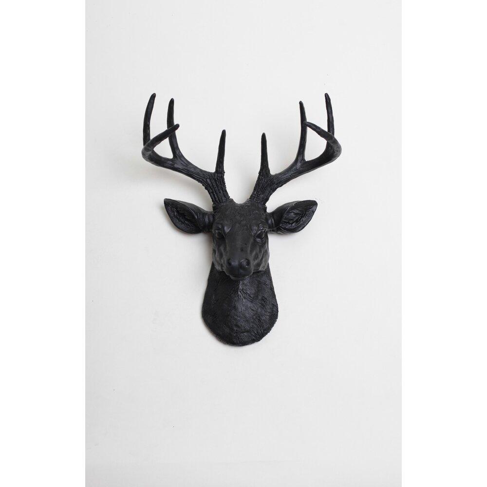 white faux taxidermy the mini ignatius deer head wall d cor reviews wayfair. Black Bedroom Furniture Sets. Home Design Ideas
