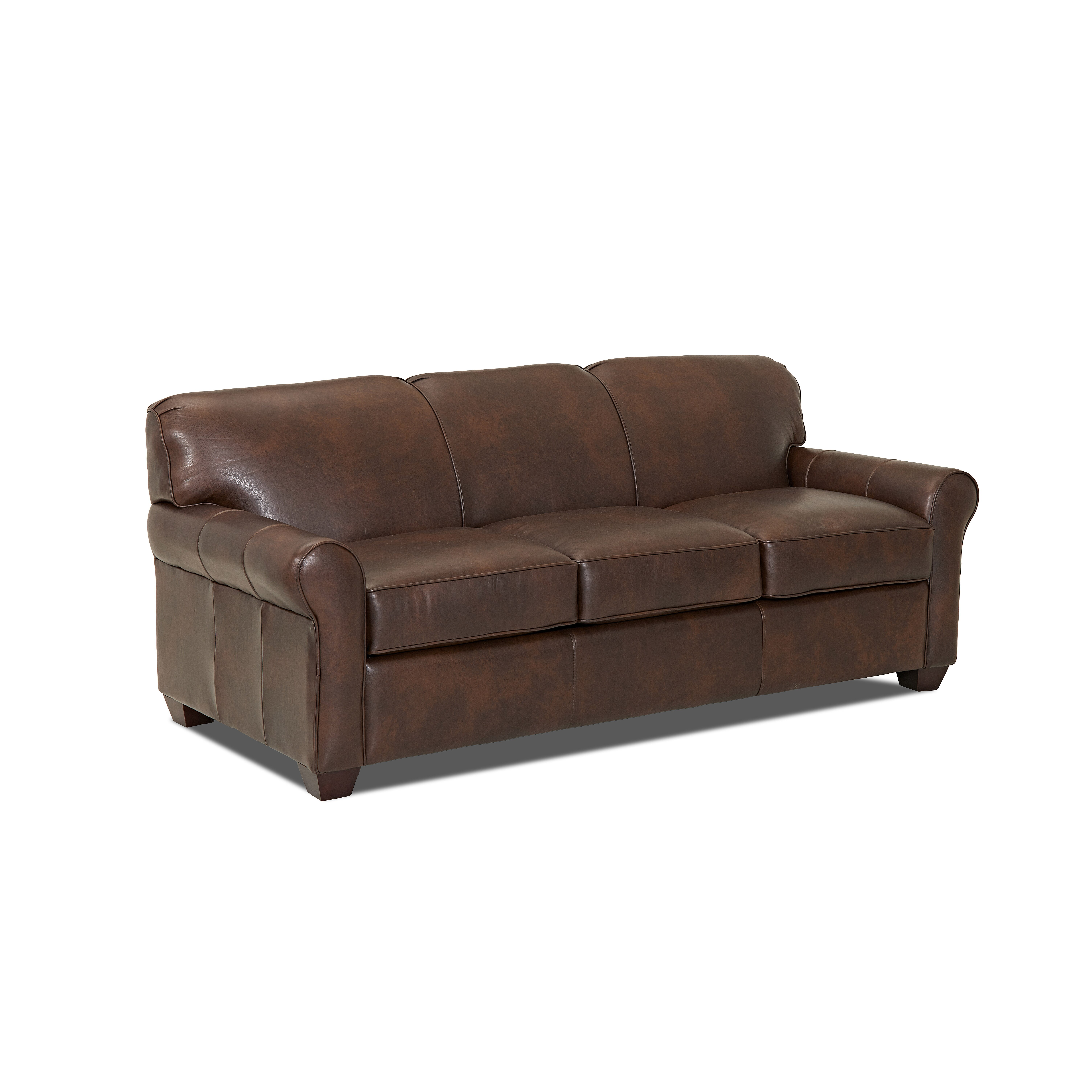Unique Leather Sofas: Wayfair Custom Upholstery Jennifer Leather Sofa & Reviews