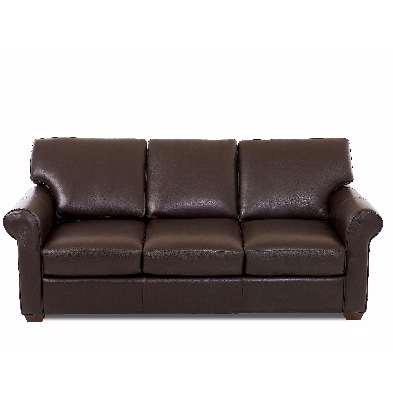 Wayfair Custom Upholstery Jennifer Leather Sofa Amp Reviews
