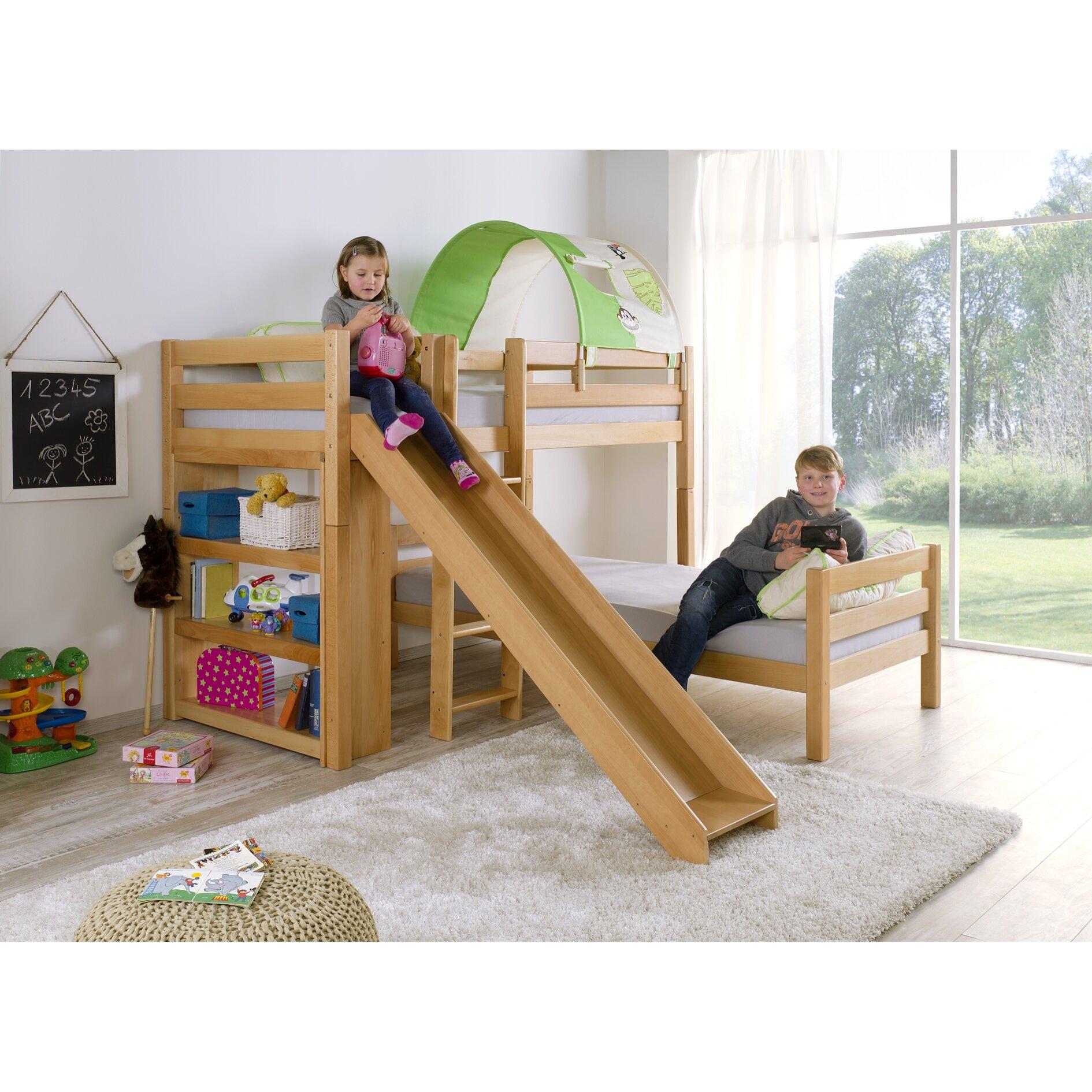 relita l f rmiges etagenbett beni mit rutsche 90 x 200 cm. Black Bedroom Furniture Sets. Home Design Ideas