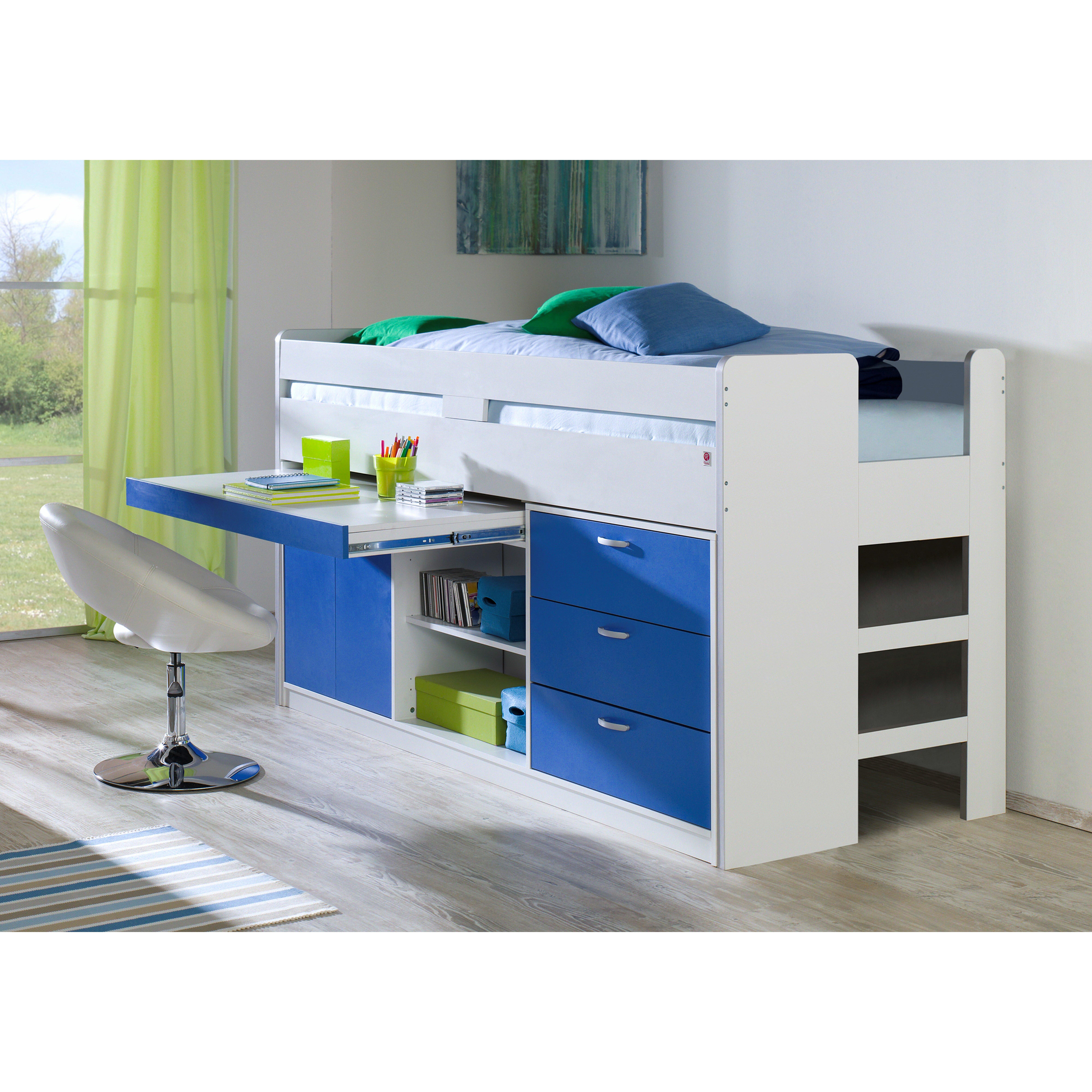 relita hochbett bonny mit schubladen 90 x 200 cm. Black Bedroom Furniture Sets. Home Design Ideas