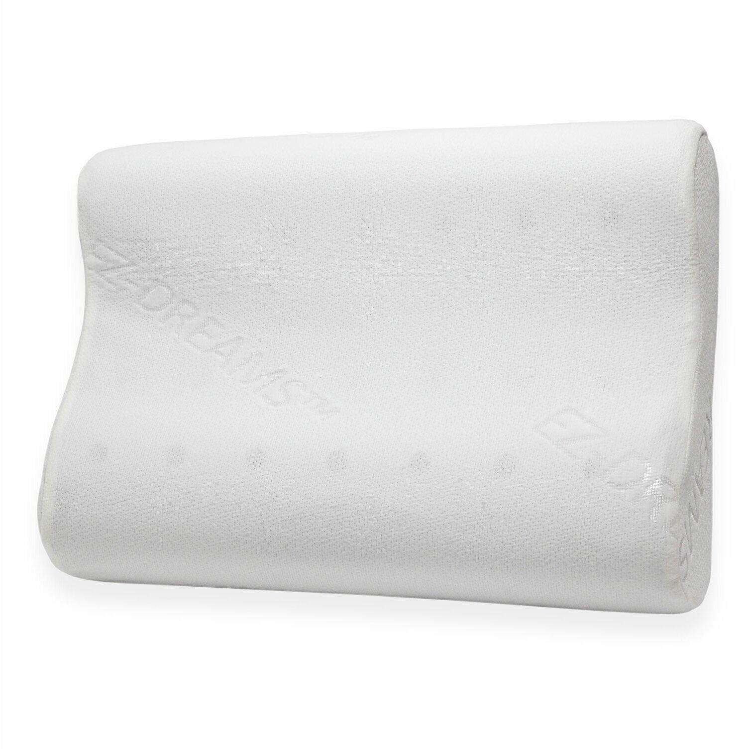 pegasus home fashions ez dreams contour memory foam pillow