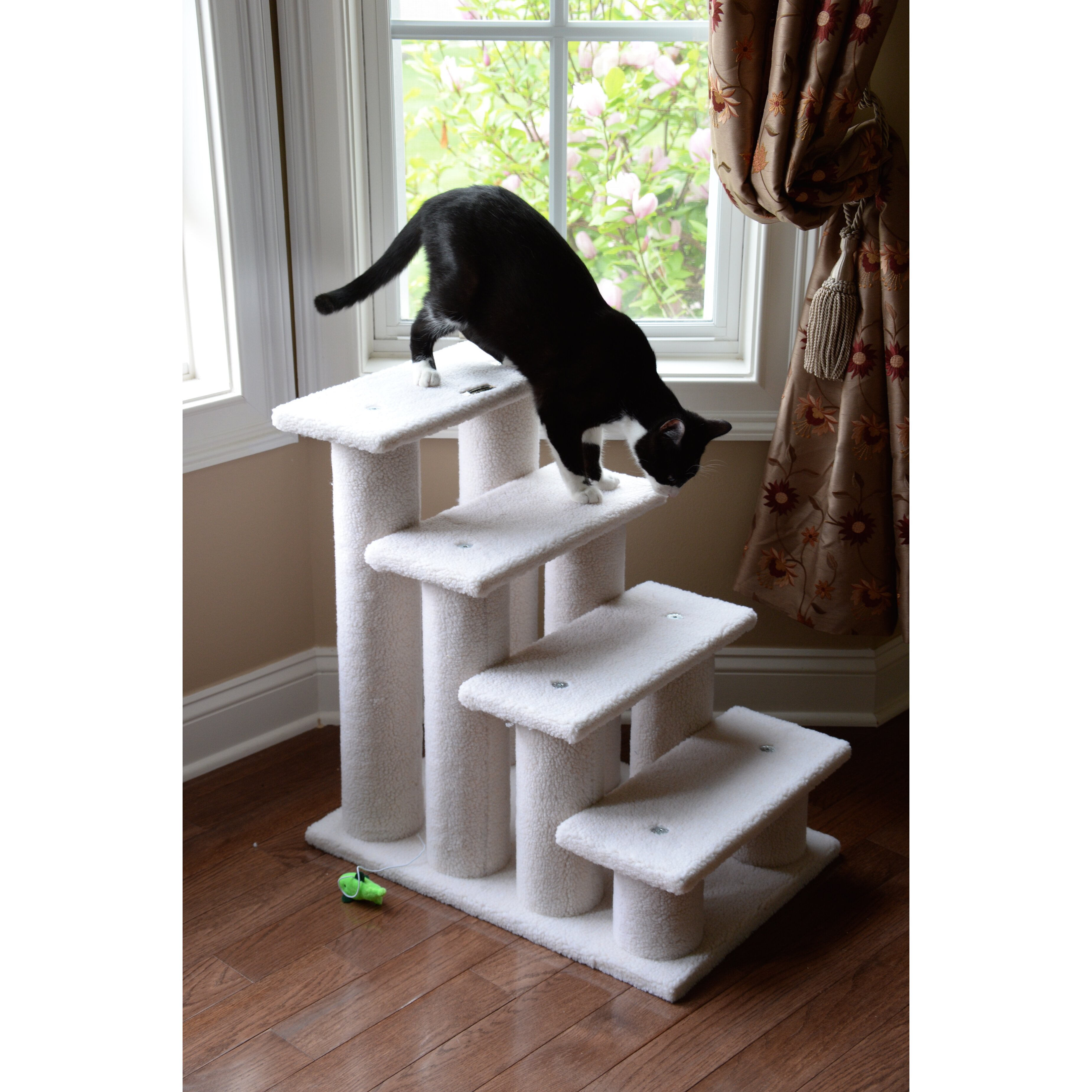 Armarkat 25 classic 4 step cat tree reviews wayfair for Cat tree steps