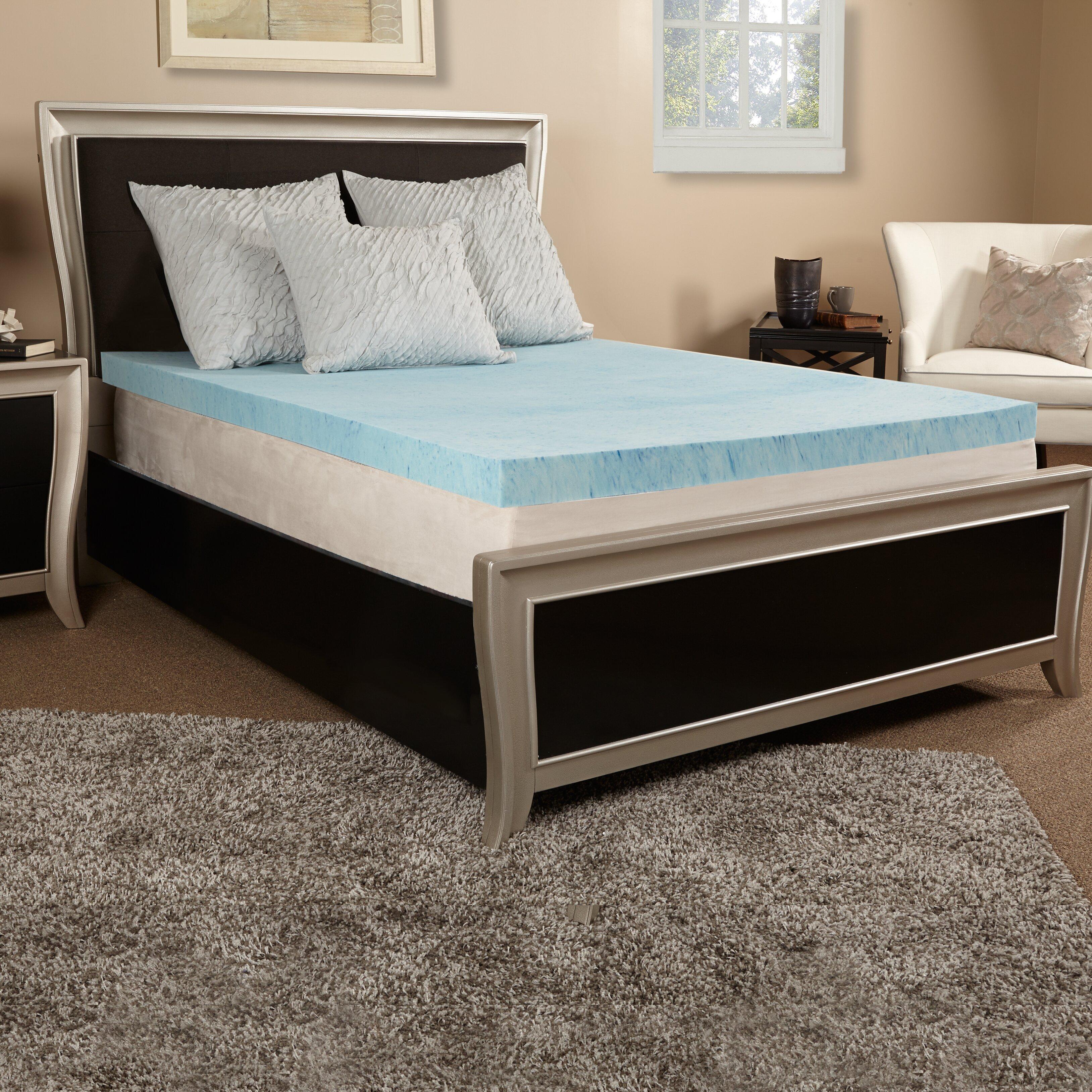 """Luxury Solutions 4"""" Gel Memory Foam Mattress Topper"""