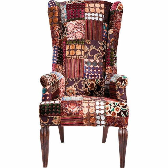 kare design ohrensessel patchwork velvet. Black Bedroom Furniture Sets. Home Design Ideas