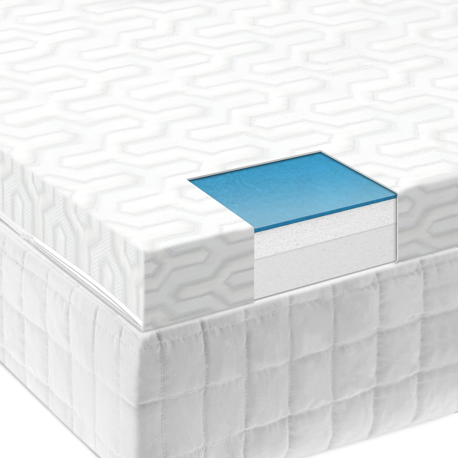 Malouf Liquid Gel Memory Foam Mattress Topper Reviews Wayfair