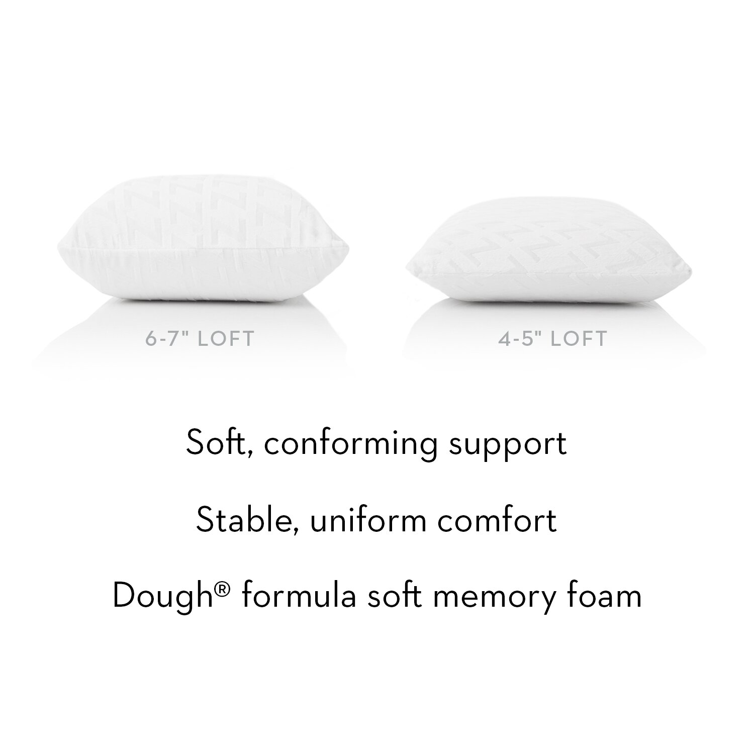 Natural Latex Foam Pillows in Soft, Medium, and Firm