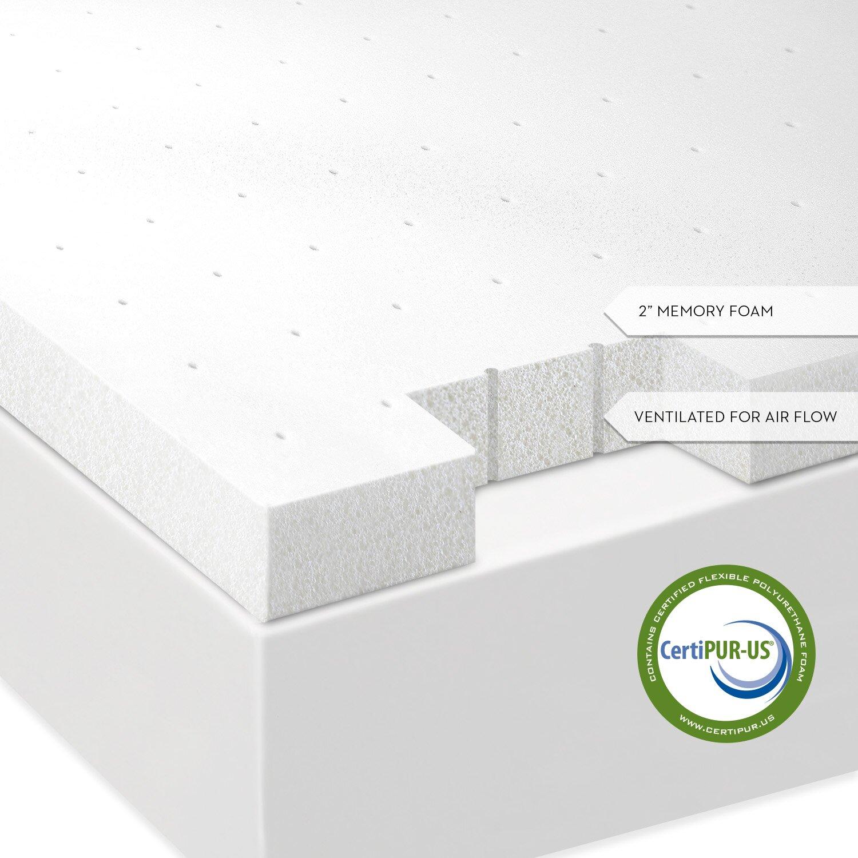 Malouf Ventilated Memory Foam Mattress Topper & Reviews