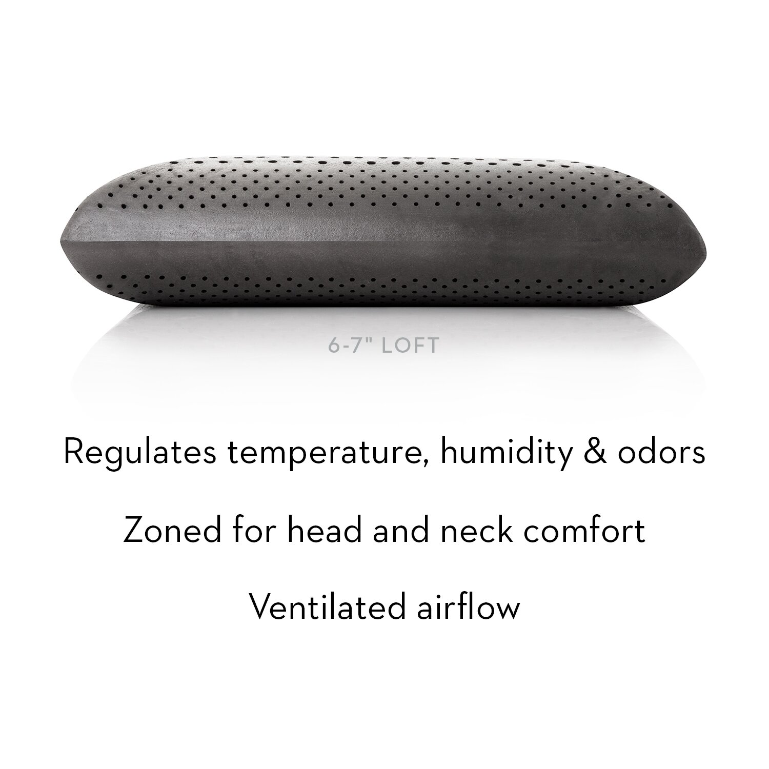 Malouf Zoned Dough Memory Foam And Bamboo Rayon Charcoal