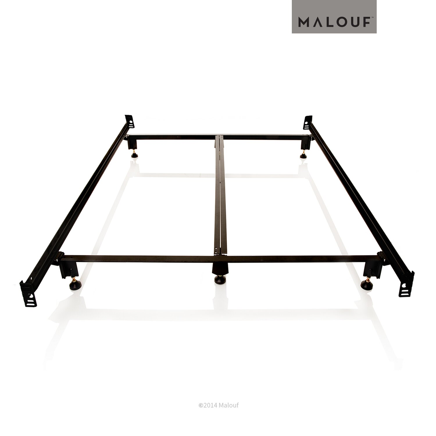 Malouf Steelock Metal Bed Frame Amp Reviews Wayfair