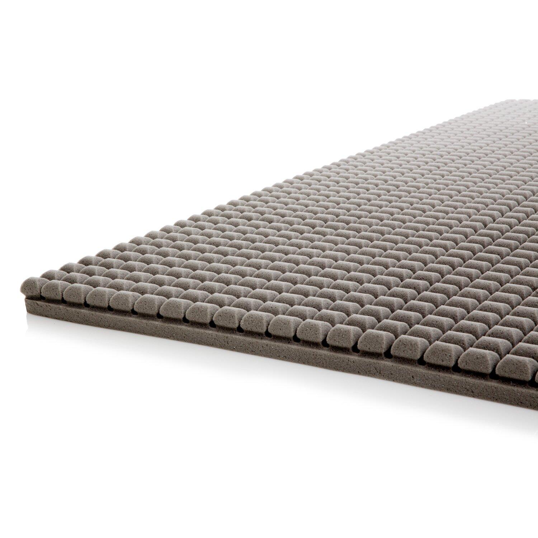 Lucid Bamboo Rayon Charcoal Memory Foam Mattress Topper