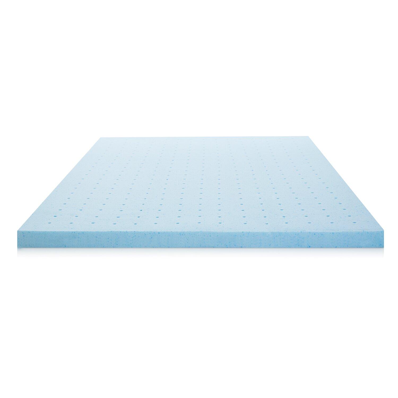 Lucid 2 5 Ventilated Memory Foam Mattress Topper Reviews