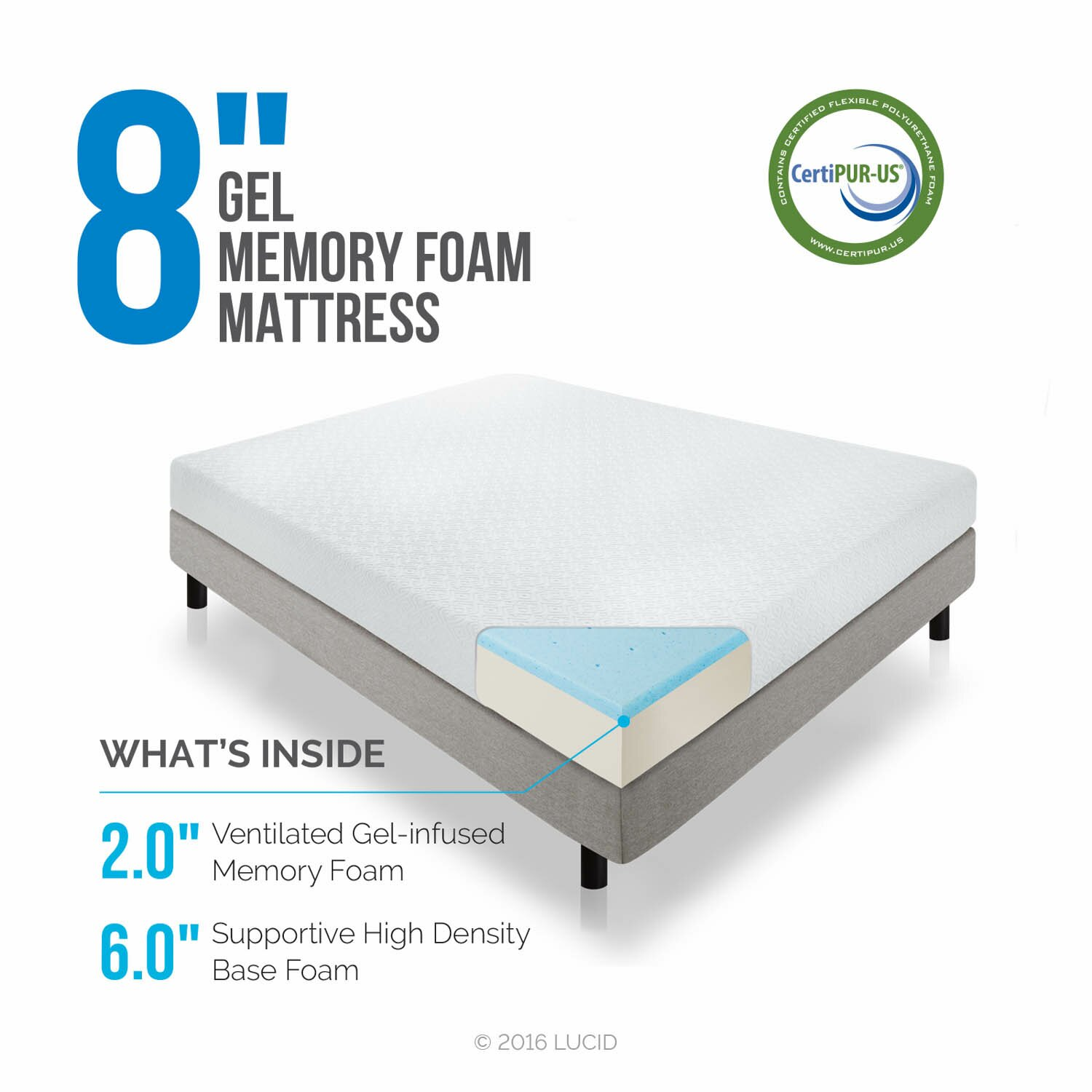 Lucid 8 memory foam mattress reviews wayfair Memory foam mattress buy