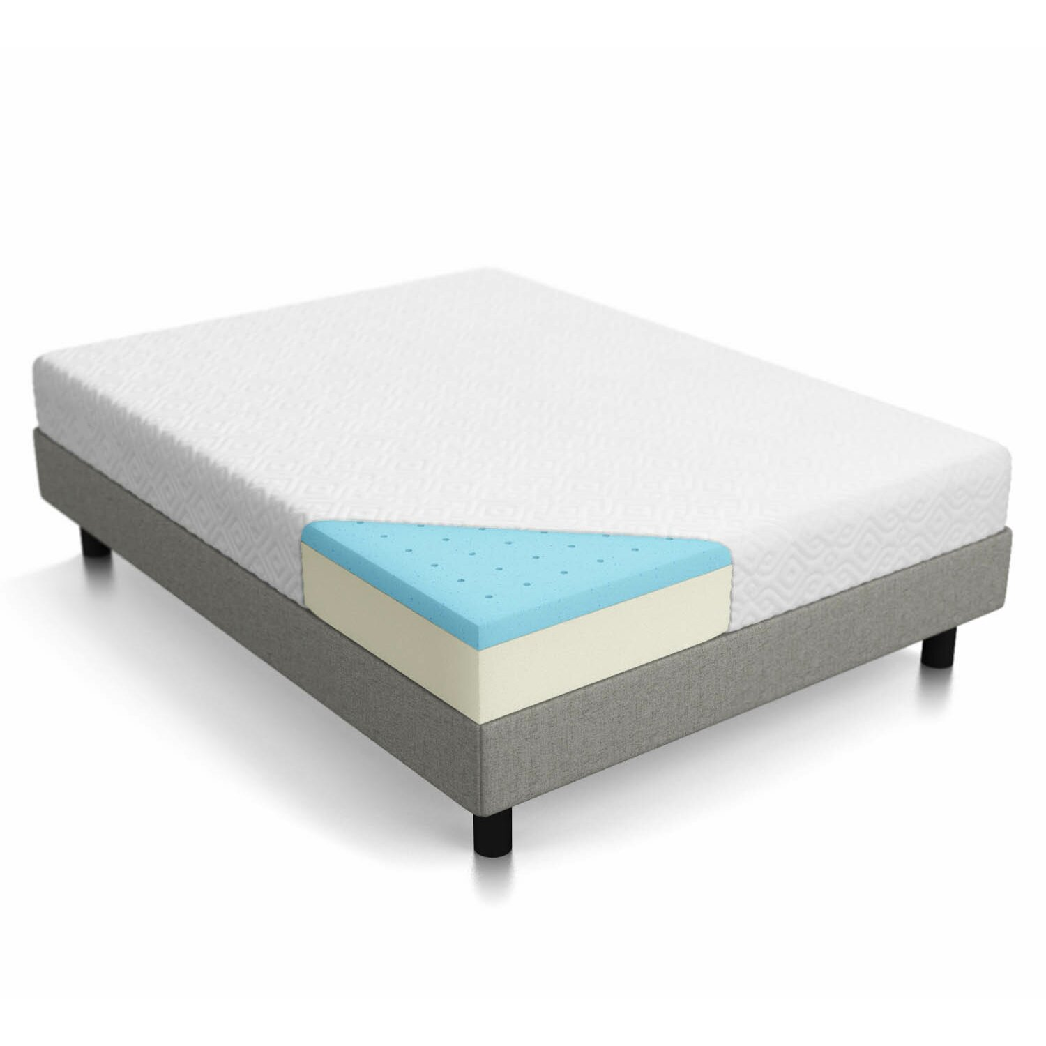 "Lucid 10"" Memory Foam Mattress & Reviews"