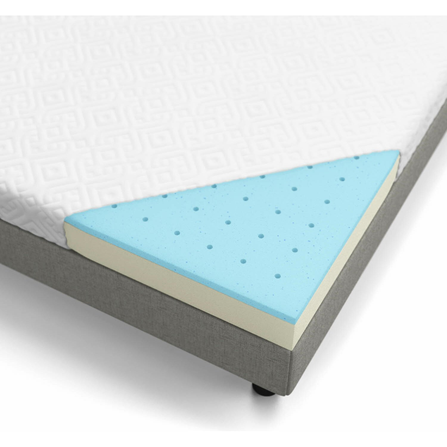 "Lucid 5"" Gel Memory Foam Mattress & Reviews"