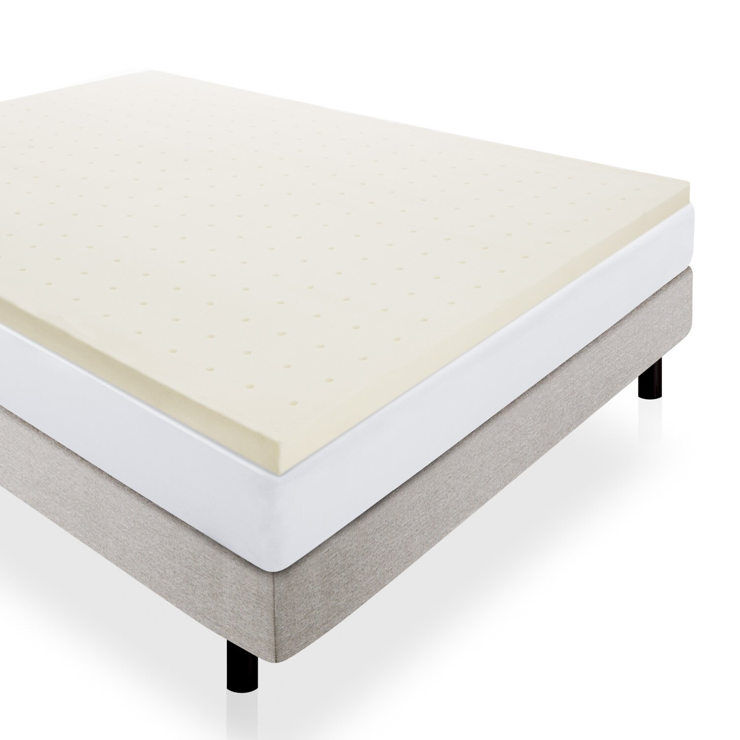 Lucid Memory Foam Mattress Topper Amp Reviews Wayfair